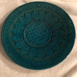 Handmade Istalifi Afghan Pottery Plate